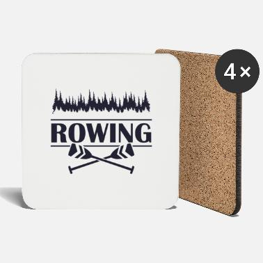 Competitive Sports Rowing rower sports competition trees forest paddle - Coasters