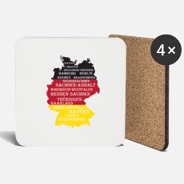 Federal States Federal States Germany flag borders - Coasters