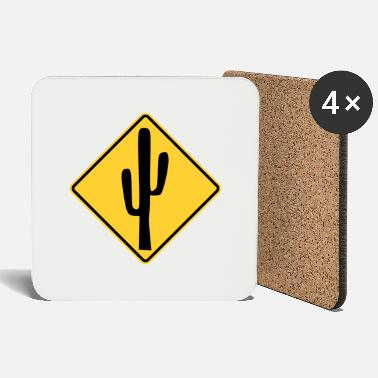 Traffic Cactus traffic sign stop - Coasters