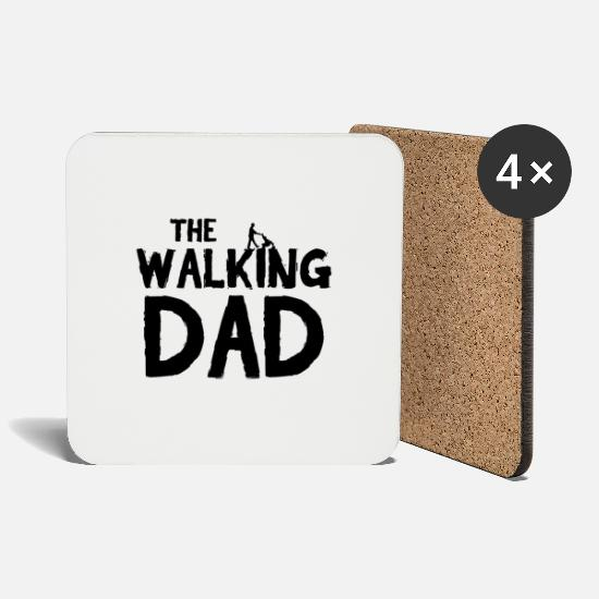 Walking Mugs et récipients - The Walking Dad Noir LABELED - Dessous de verre blanc
