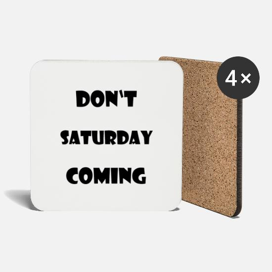Birthday Mugs & Drinkware - Saturday - Coasters white