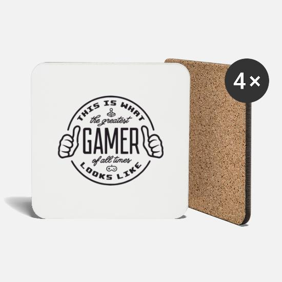 Game Mugs & Drinkware - Best Gamer Romp PC Computer Gift Console - Coasters white
