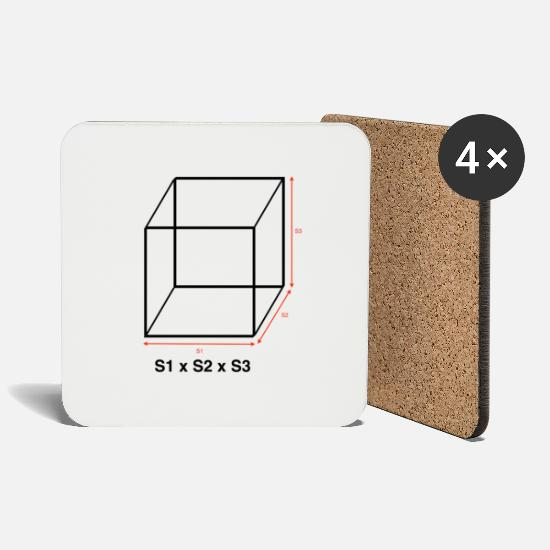 Bucket Mugs & Drinkware - The volume of a cube - Coasters white