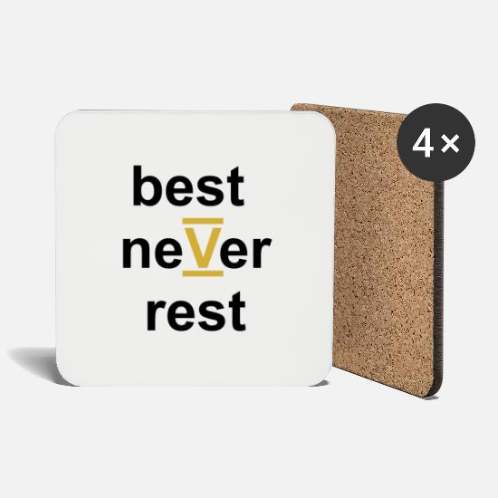 Rest Mugs & Drinkware - best never rest - Coasters white