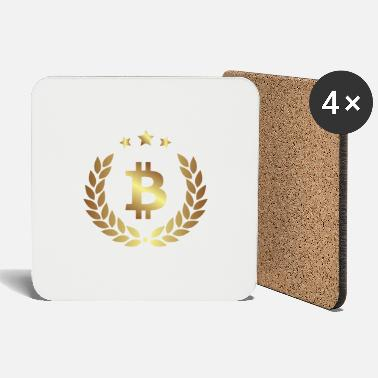 Bitcoin currency gold sign - Coasters