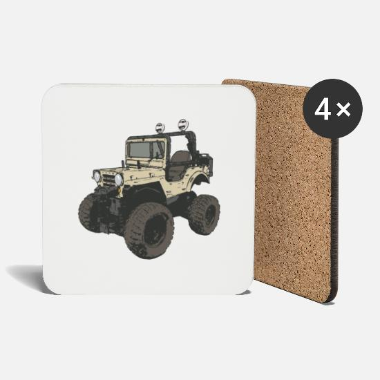 Outdoor Mugs & Drinkware - four-wheel - Coasters white