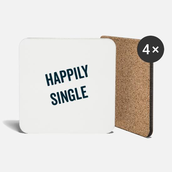 Love Mugs & Drinkware - Single but not alone gift gift idea - Coasters white