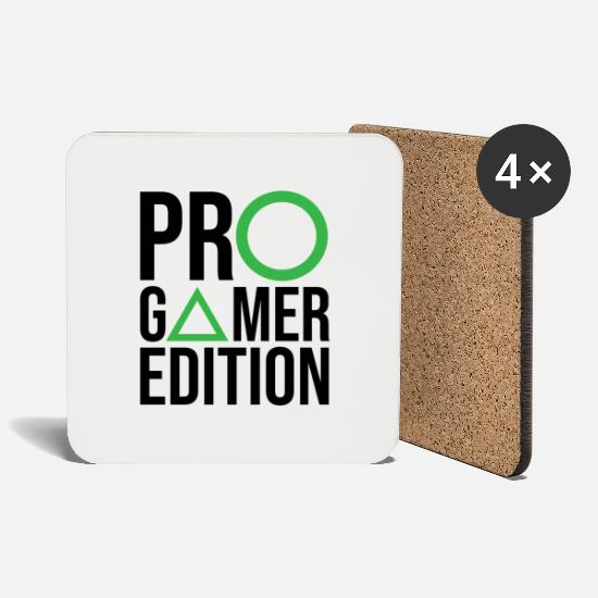 Play Mugs & Drinkware - Pro Gamer Games PC console gambling computer - Coasters white