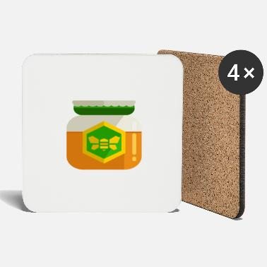 Honey Bee Honey jar honey bee beekeeper honey bee bee honey - Coasters