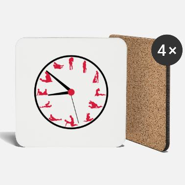 Sex sex clock with positions - Coasters
