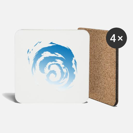 Surfer Mugs & Drinkware - Wave - Coasters white