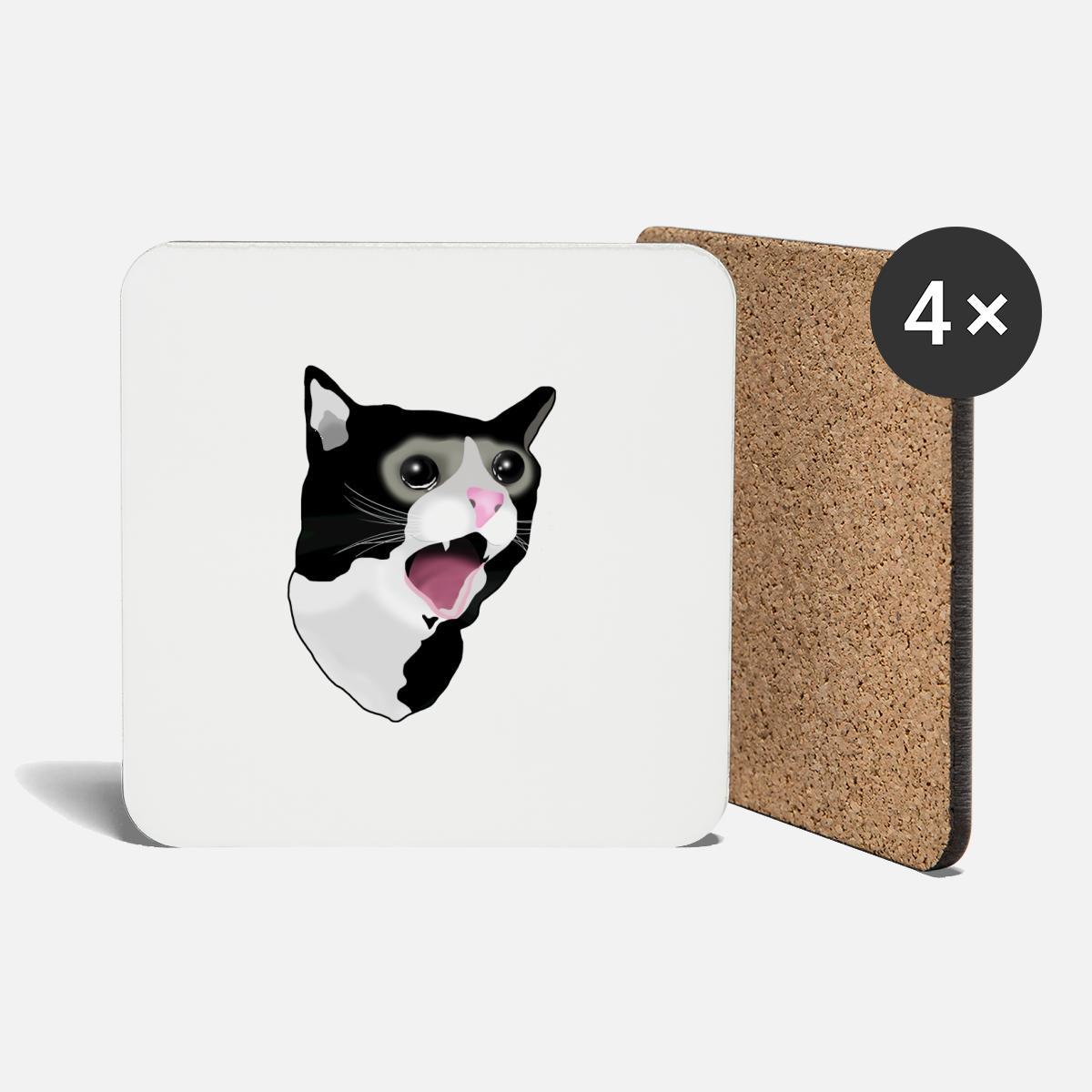Crying Cat Meme Coasters Spreadshirt