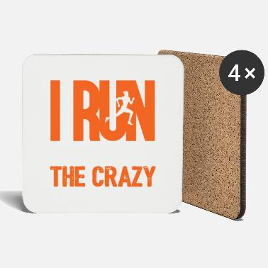 Officialbrands I Run To Burn Off Crazy - Coasters
