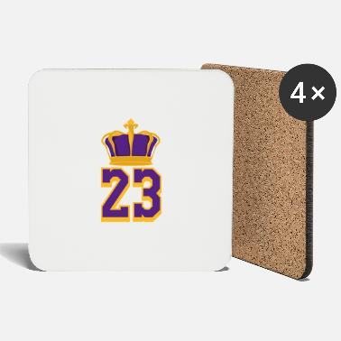 Basketball Number 23 LeBron James - Coasters