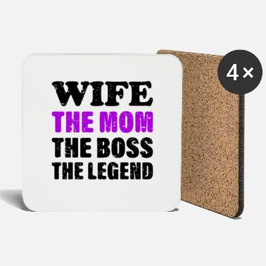 Amazing Wife The Mom The Boss The Legend Family T-Shirt - Coasters