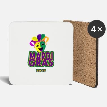 Festival Mardi Gras 2019 Funny tShirt for Women Men - Posavasos