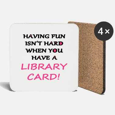 Provocation Fun with a Library Card - Coasters