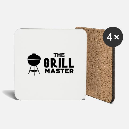 Grillmaster Mugs & Drinkware - Grillmaster Grillmeister Grill BBQ Gift - Coasters white