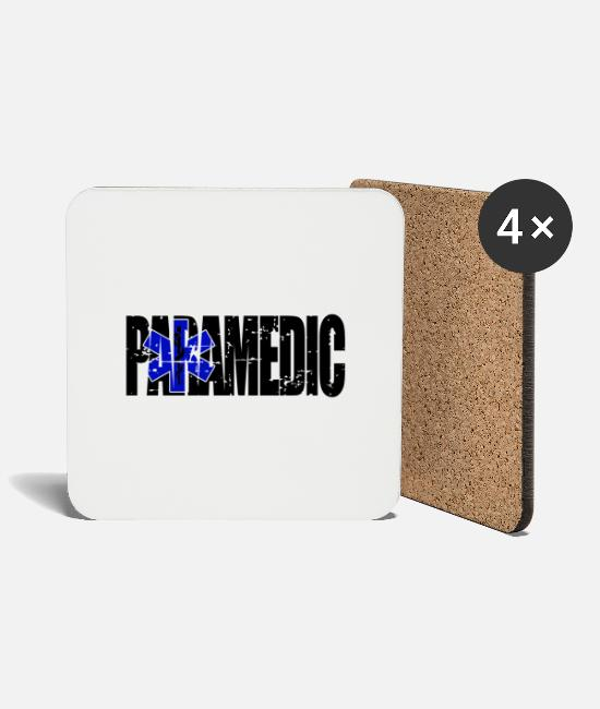 Bless You Mugs & Drinkware - Paramedic paramedic emergency rescue doctor gift - Coasters white