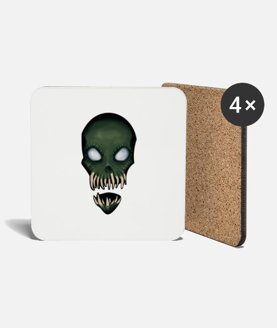 Zombie Apocalypse Mugs & Drinkware - Zombie Monster for Halloween - Coasters white