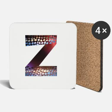 Initial Letters design colorful Z, symbol of diversity - Coasters