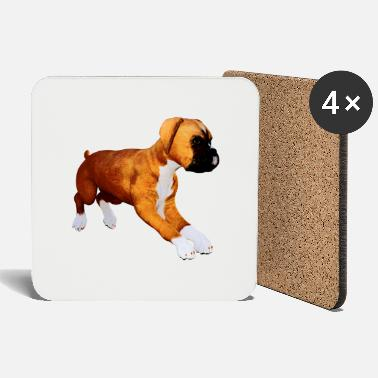 Love Dog boxer puppy - Coasters