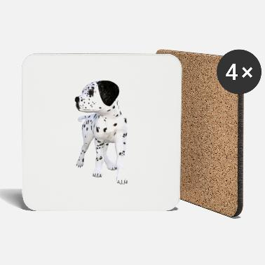 Bow Dog Dalmatian puppy - Coasters
