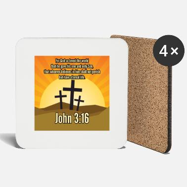 Christian Online Shop John 3:16 Bible on Christian Clothing - Buy Online - Coasters