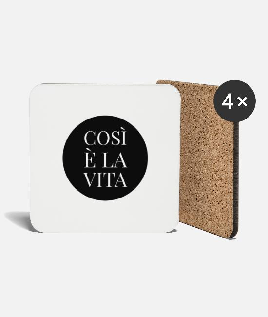 Country Mugs & Drinkware - Cosi e la Vita - Coasters white