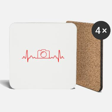 Photographer heartbeat camera Funny gift idea - Coasters