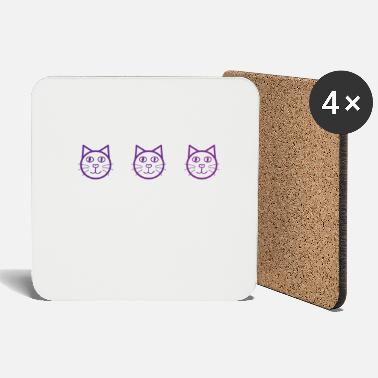 Crazy Cat Lady Purple cat - Coasters