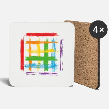 Dash Paint blob splash paint painter gift colorful stroke - Coasters