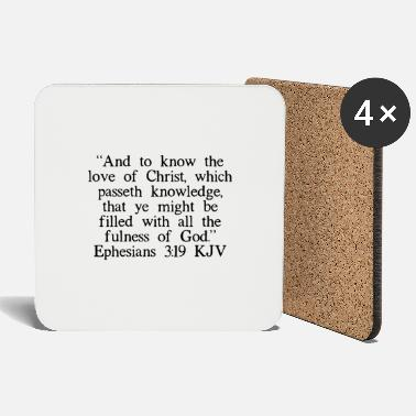 Catholic Ephesians 3:19 KJV - Coasters
