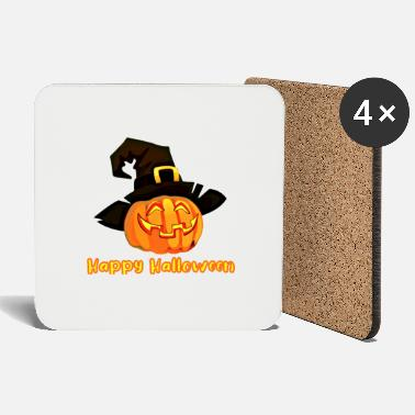 Pumpkin Halloween Pumpkin - Witch Hat - Coasters
