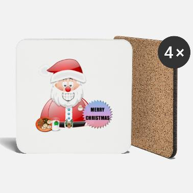 Job Underwear Santa 16 Merry Christmas - Coasters