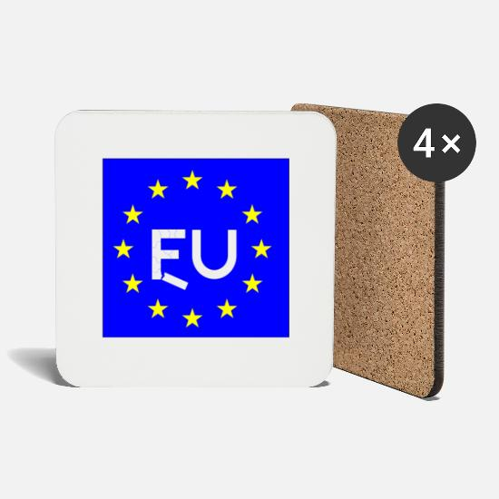 EU Break-uo Mugs & Drinkware - Brexit Special - Coasters white