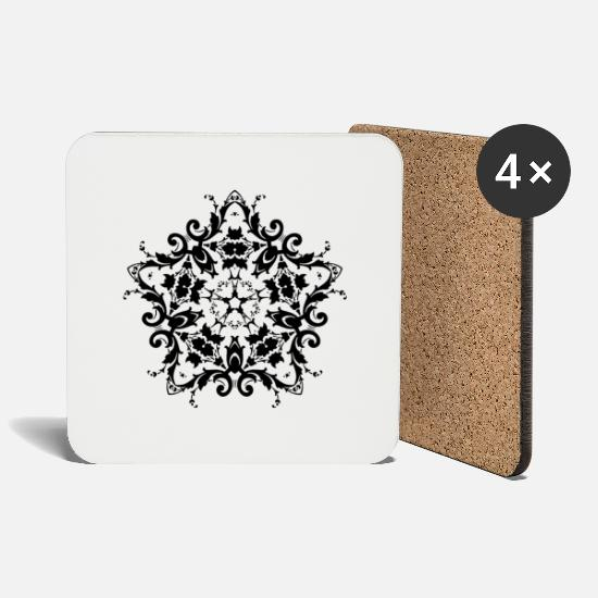 Ornament Mugs & Drinkware - Ornament - Damask - Coasters white