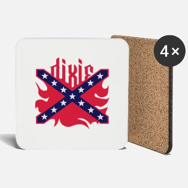 Dixie Dixie (US South, Rebel, Confederate) Flag 3 Colors - Coasters