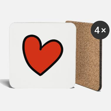 Crook crooked heart - Coasters