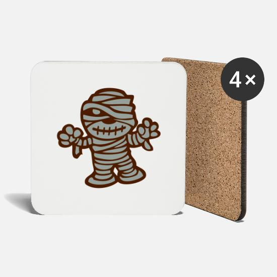 Boss Mugs & Drinkware - mummy - Coasters white