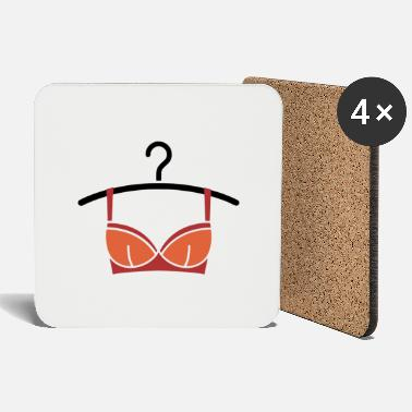 Nice Underwear Women's underwear on a clothes hanger - Coasters