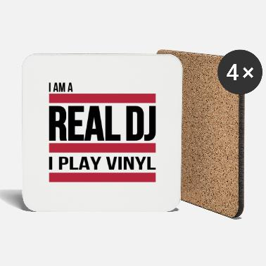 real DJ play vinyl Schallplatte Club turntables - Coasters