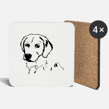 Golden Retriever Golden retrievers - Dessous de verre