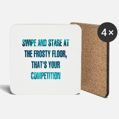 Floor Hockey Hockey: Swipe And Stare At The Frosty Floor, - Coasters