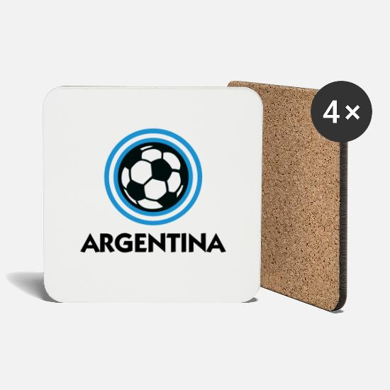 Soccer Mugs & Drinkware - Argentina Football Emblem - Coasters white