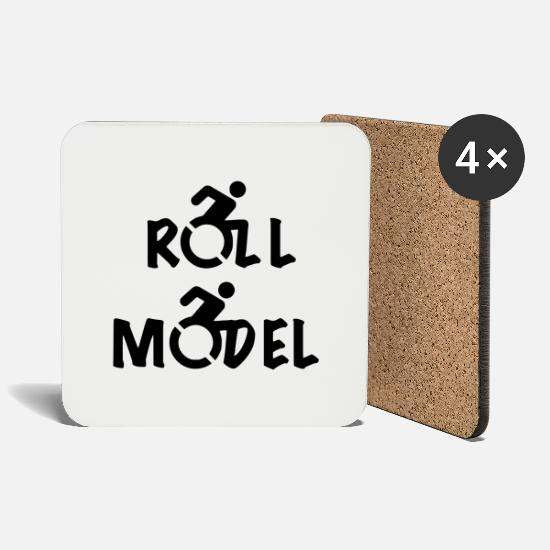 Model Mugs & Drinkware - Roll Model 001 - Coasters white