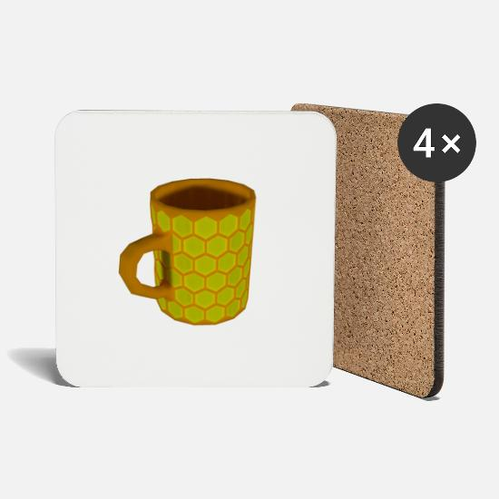 Honeycomb Mugs & Drinkware - Honeycomb Mug - Coasters white