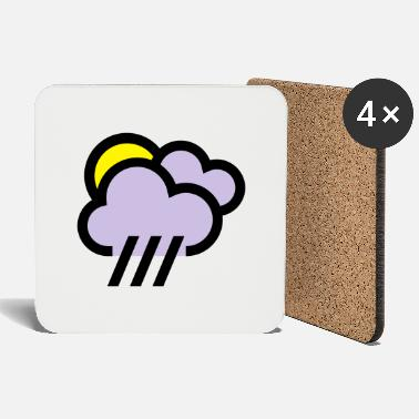 Weather Rainy weather, bad weather, chill icon - Coasters