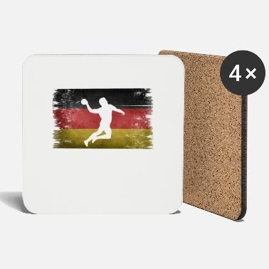 Tain Handball player Germany retro flag - Coasters