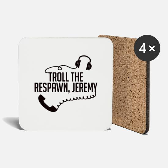 Cool Sayings Mugs & Drinkware - troll - Coasters white